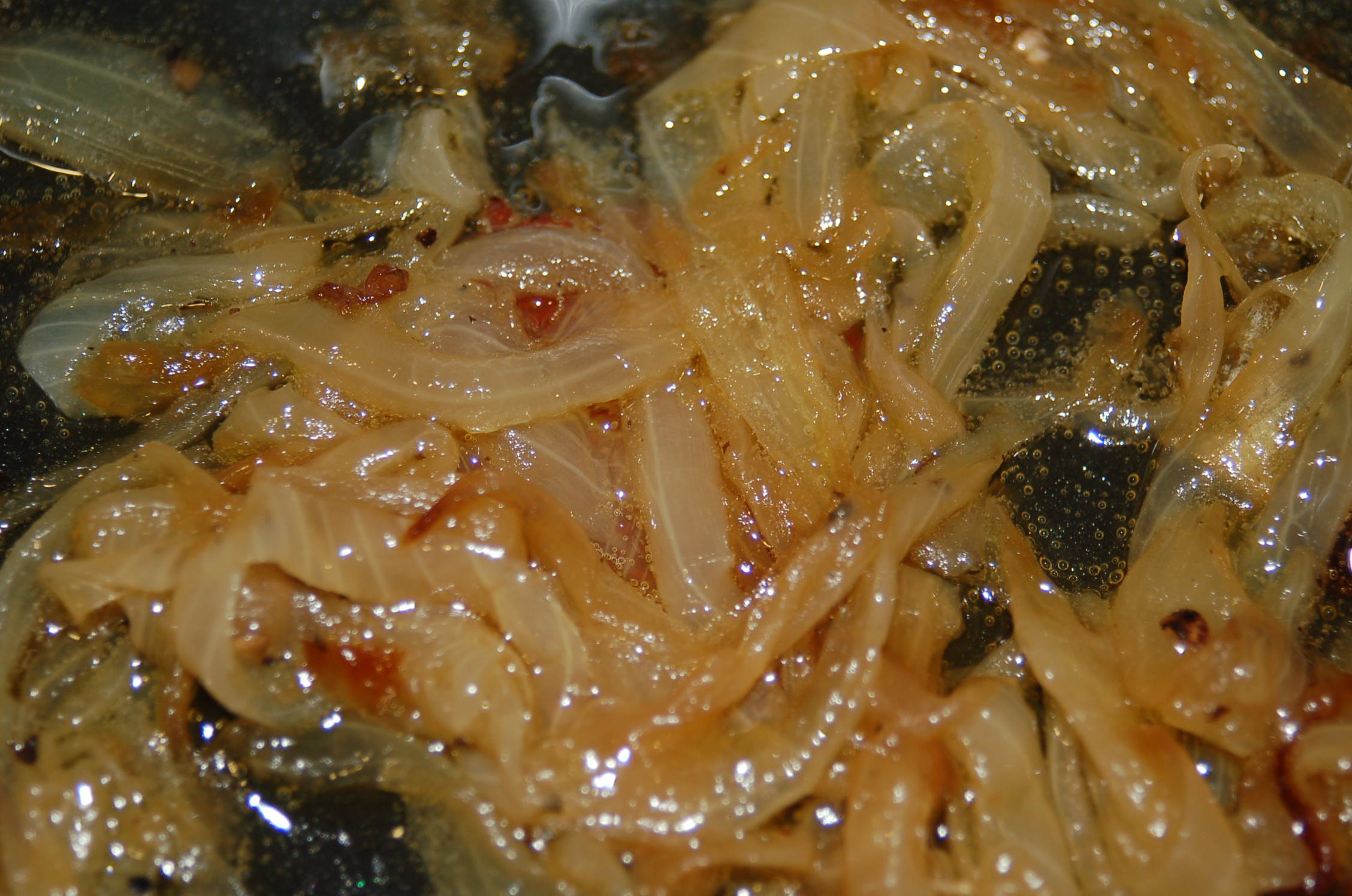 The caramelized onions will be very sweet so a little bit added to the pizza will go a long way.