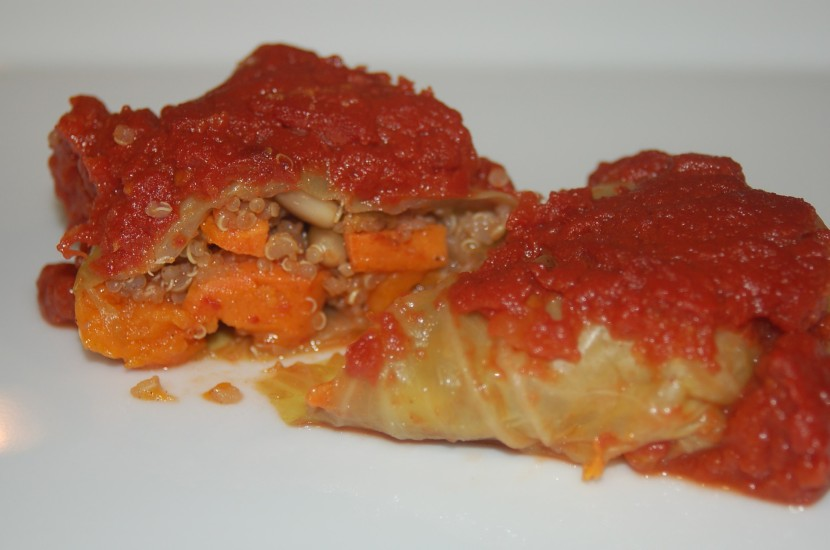 Stuffed Cabbage with Quinoa and Sweet Potato