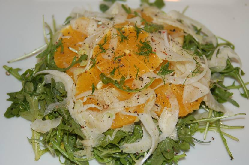 Orange, Fennel and Arugula Salad