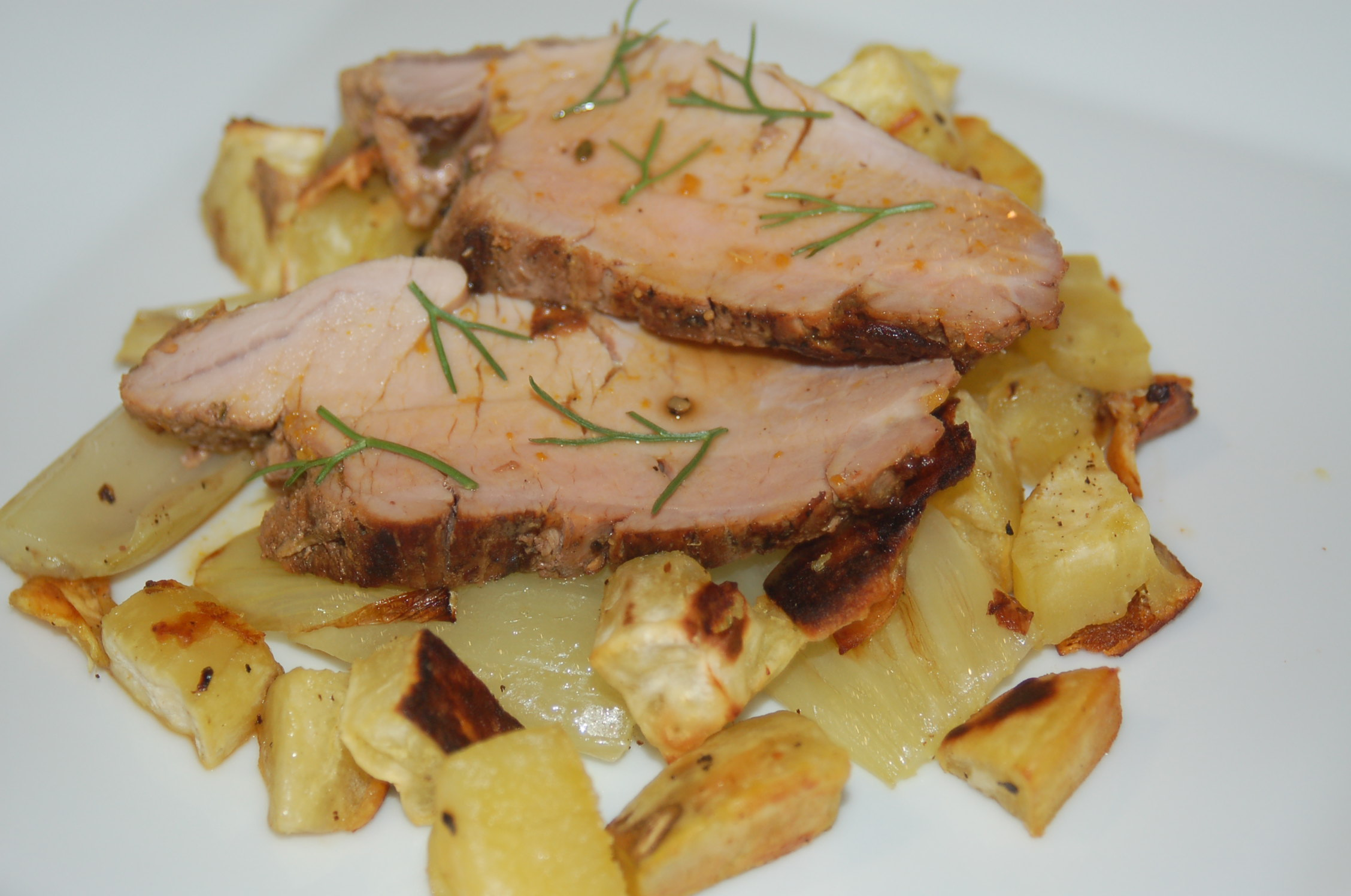 ... and Rosemary Roast Pork Tenderloin with Fennel and Sweet Potatoes