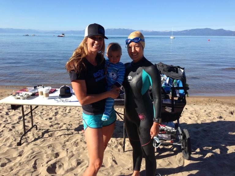Kristy & future Olympian, Ian