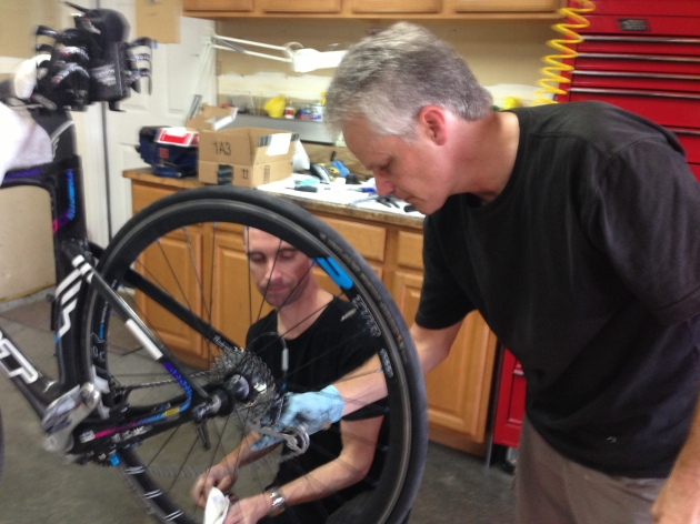 I was grateful to have 2 friends who knew a lot about bikes help to figure out how to change my cassette out, Scott a former Cat2 cyclist and Charlie, who grew up working in a bike shop and had the opportunity to work on Greg LeMond's bike a while back.)