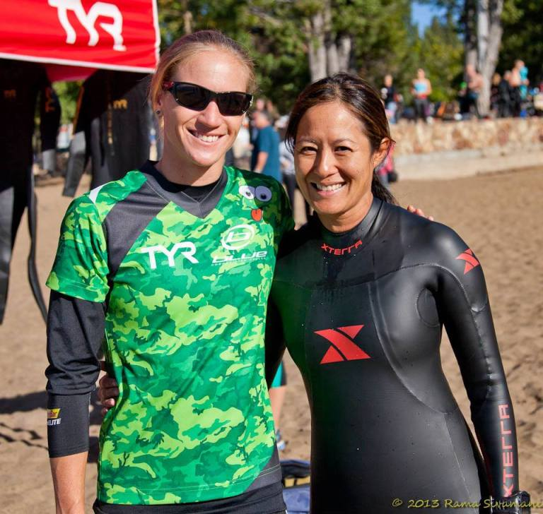 "Pro Amanda ""Doc"" Stevens recommended putting Vaseline on the back of my hands and my face; and pour warm water down my wetsuit to stay warm for the open water swim."