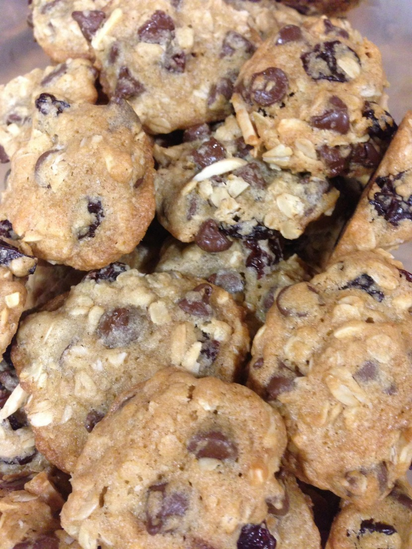 "Cherry-Chocolate Chip Oatmeal Cookies aka ""Triathlon/Pre-Race/Post-Race Cookies"""