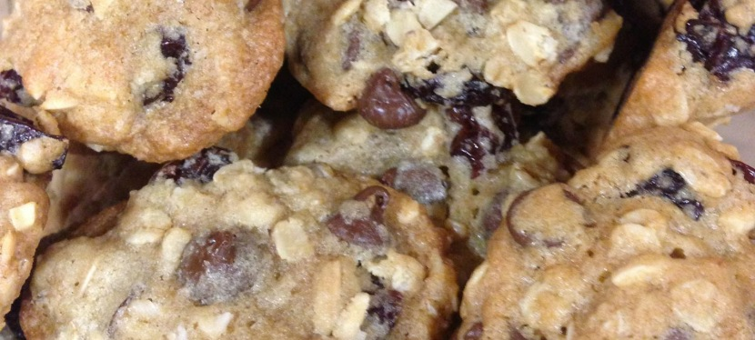 "Cherry-Chocolate Chip Oatmeal Cookies aka ""Triathlon/Pre-Race/Post-Race Cookies"""