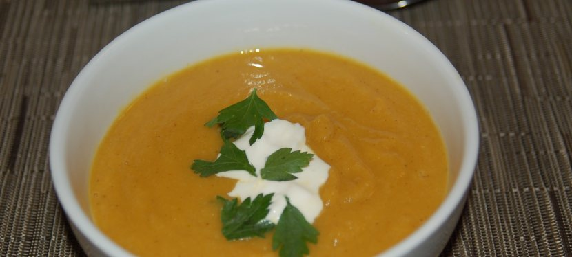 Curry Spiced Butternut Squash & Cauliflower Soup
