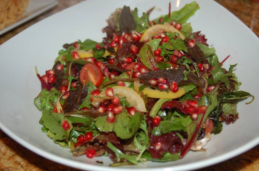 Pomegranate and Roasted LemonSalad