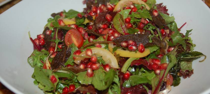 Pomegranate and Roasted Lemon Salad