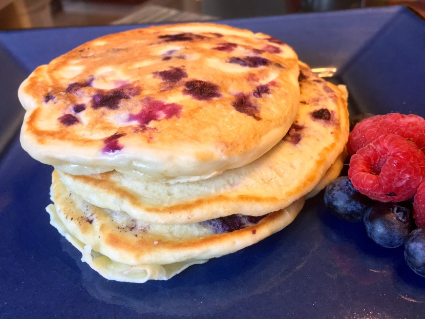 Meyer Lemon & Blueberry Yogurt Pancakes