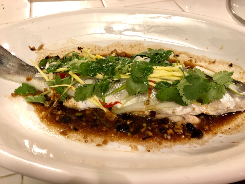Steamed Whole Fish with Ginger and Black BeanSauce