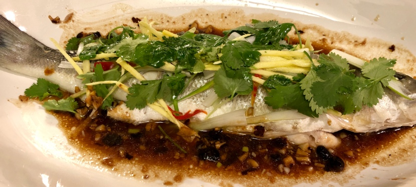 Steamed Whole Fish with Ginger and Black Bean Sauce